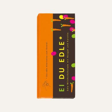 Schokolade des Monats: EI DU EDLE mit Karotte 5 + 1 gratis