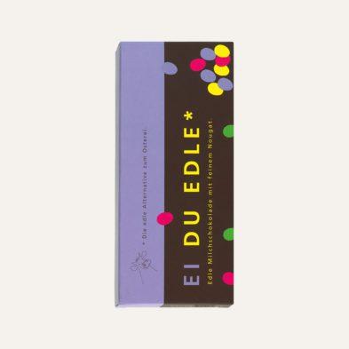 Schokolade des Monats: EI DU EDLE Milchschokolade mit feinem Nougat 5 + 1 gratis