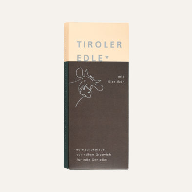 Edelbitterschokolade mit Eierlikör