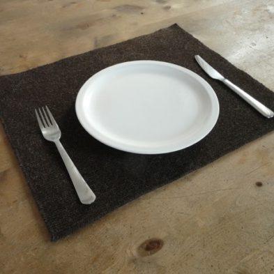 Tischset aus reiner Schafwolle