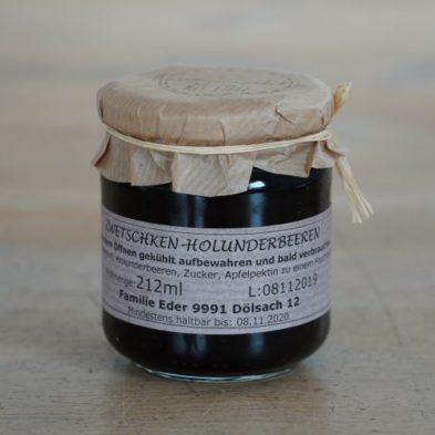 Zwetschen-Holunderbeeren-Marmelade